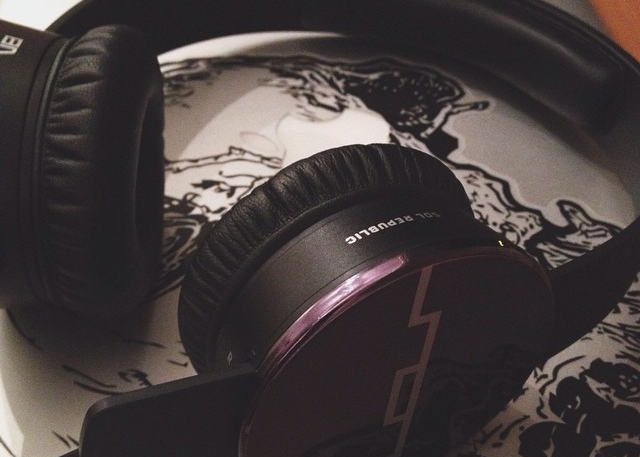 My newish Sol Republic headphones that I'm never without