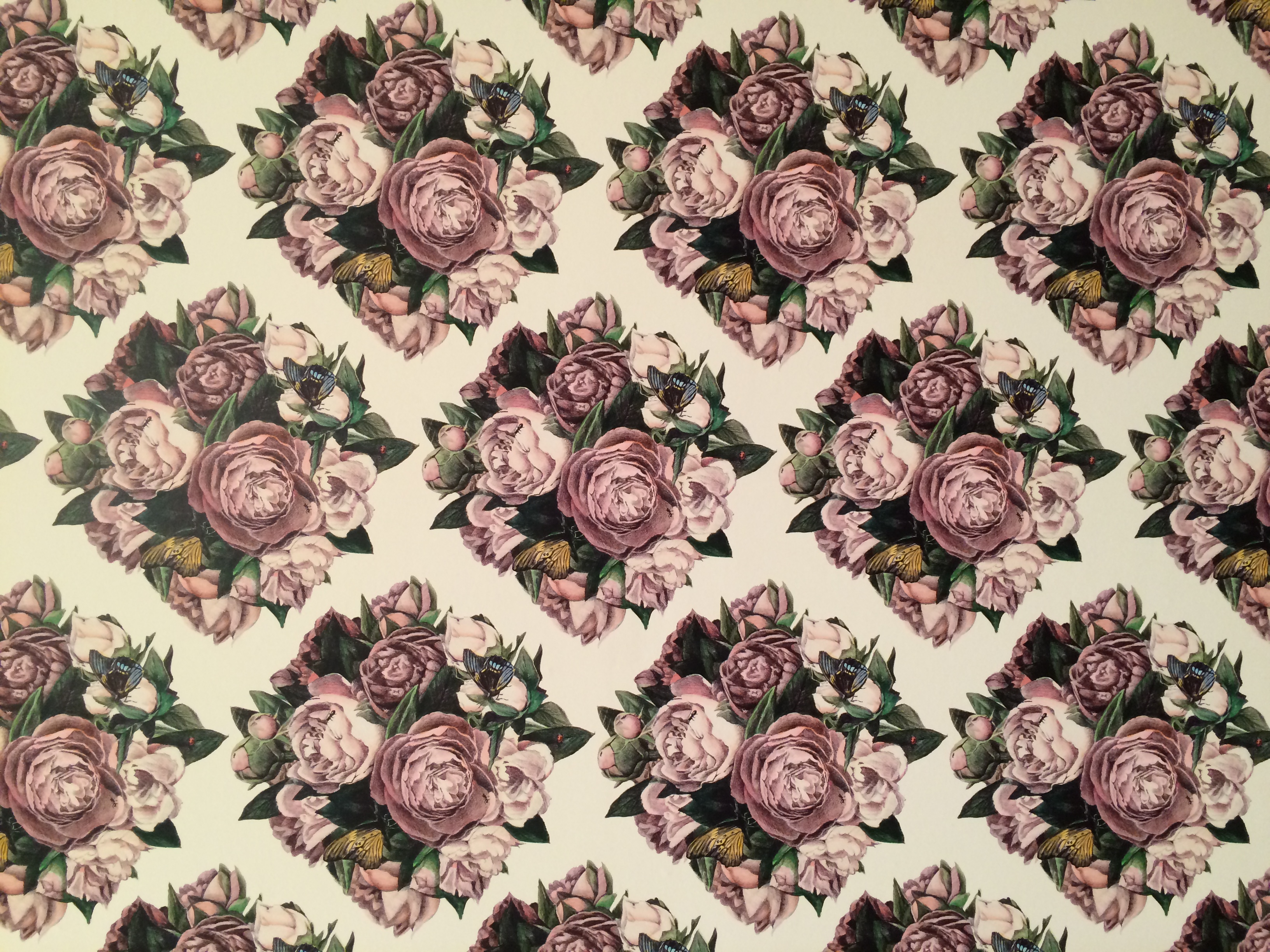 This was a really amazing wallpaper print someone did for a gallery space at Tennessee University