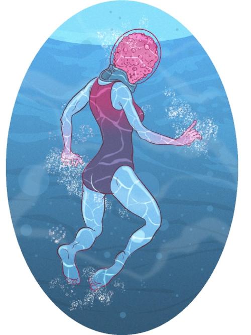 "Diver Drown  13"" x 19"" $20"