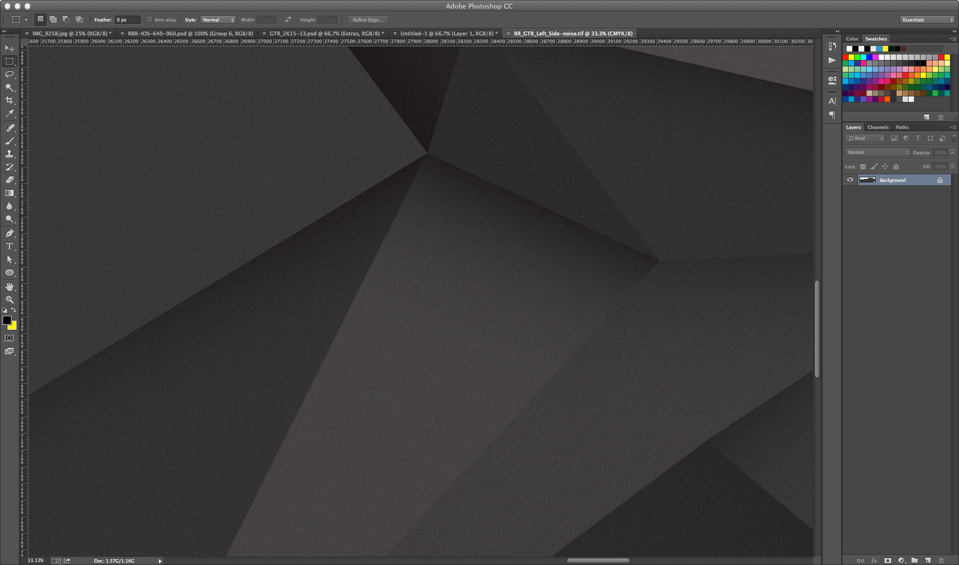 Fixed in photoshop with additional noise layer (noise helps defuses banding as well as add the matte effect)