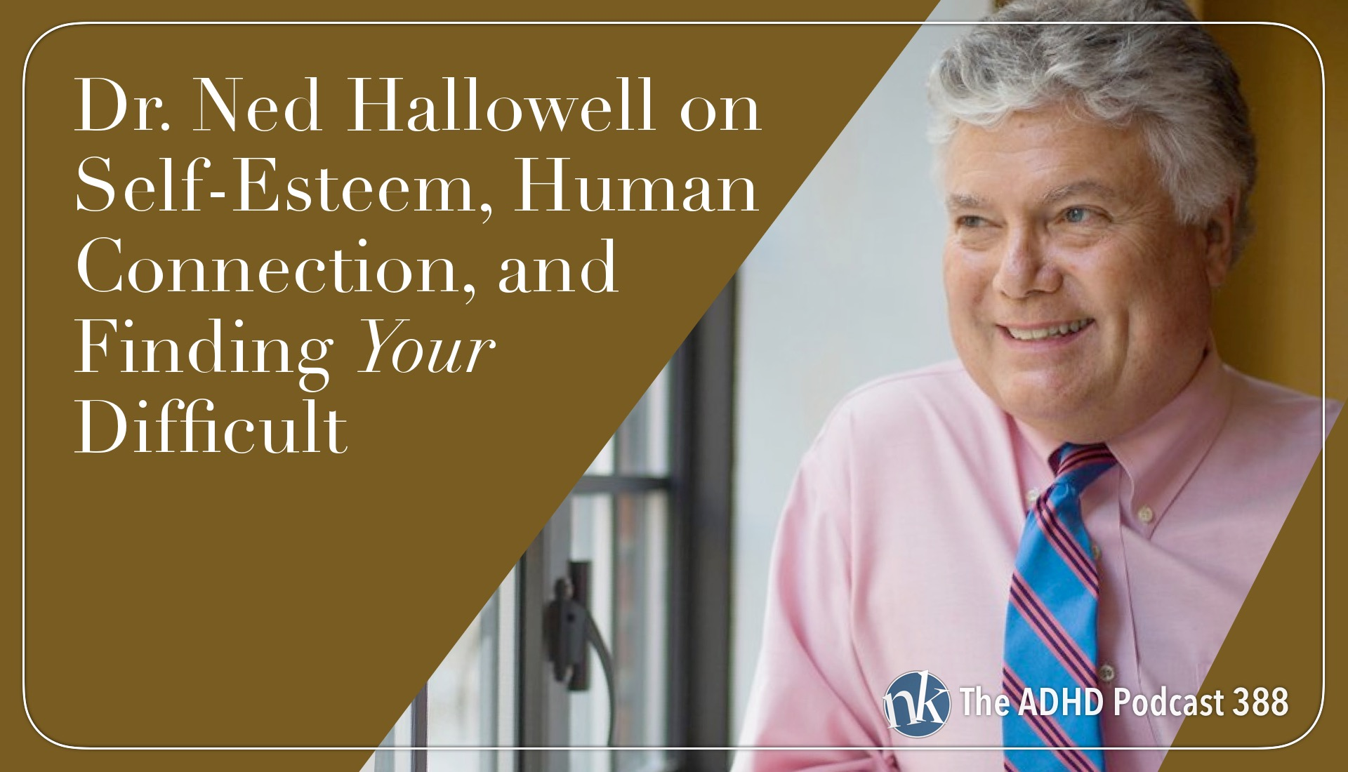 Dr. Ned Hallowell on Self-Esteem, Human Connection, and Finding Your Difficult