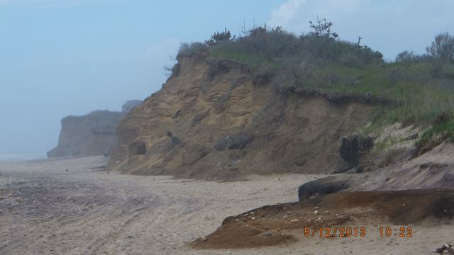The view of the bluffs from the beach