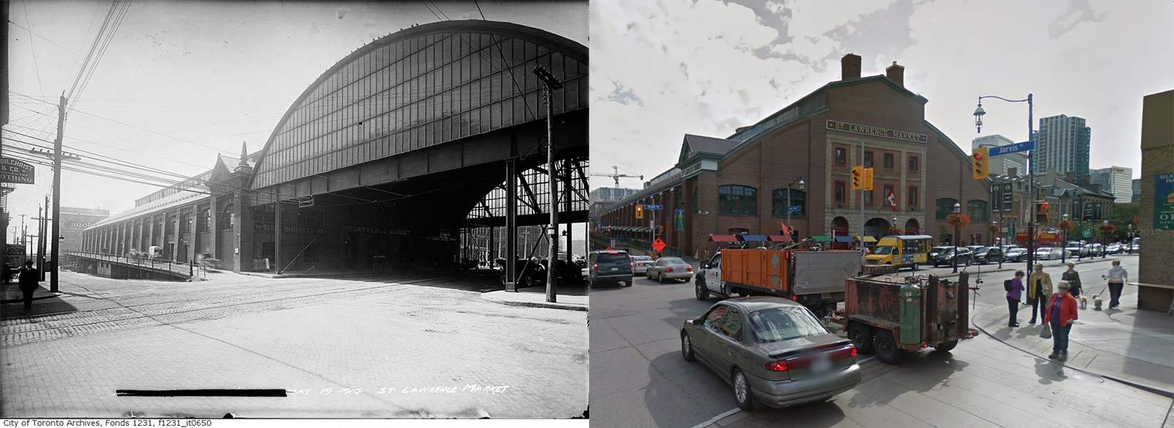 St Lawrence Market Toronto  1914 vs 2013