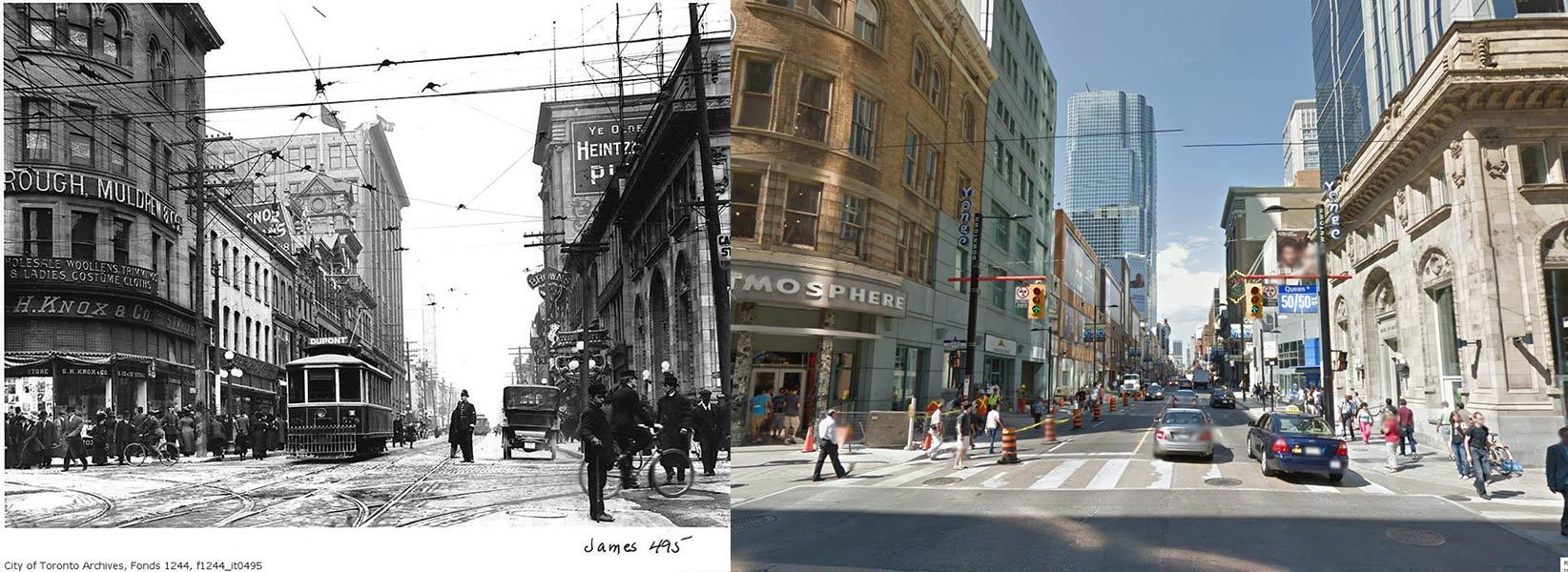 Yonge Street and Queen Street Toronto