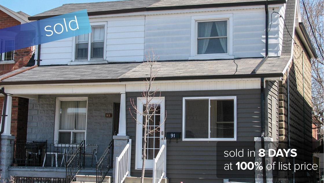 1 Priscilla Ave Toronto - Bloor West Village  SOLD: $430,000