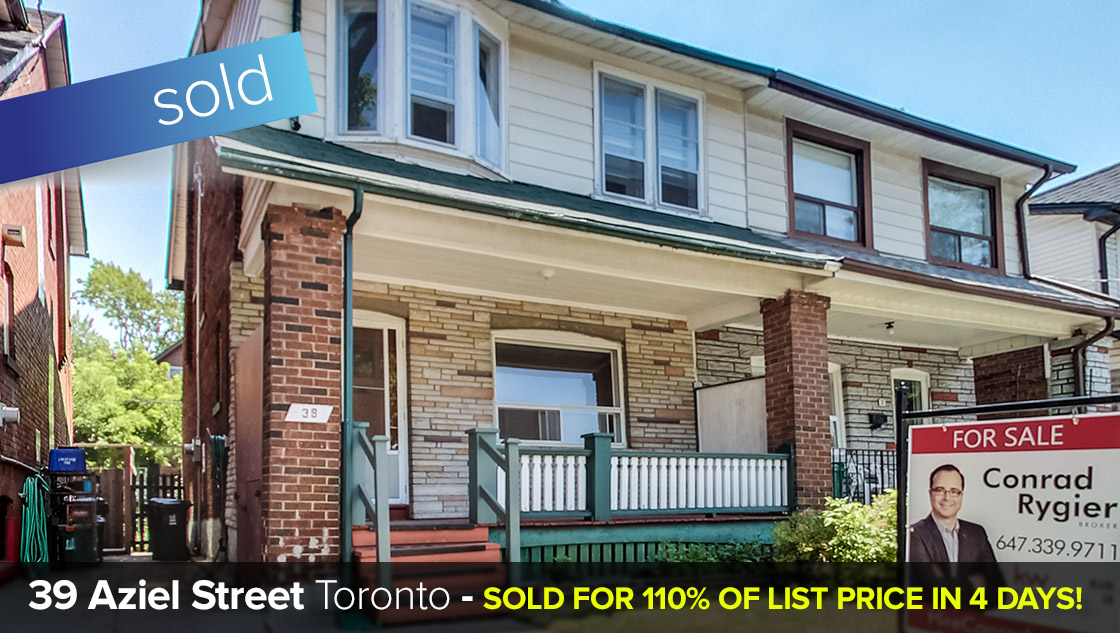 39 Aziel Street - High Park North - 4 Bedroom Semi-Detached Home  SOLD: 110% of List Price in 4 Days!