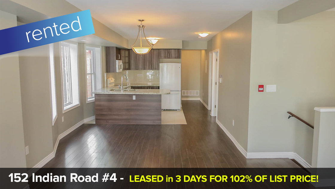 152 Indian Road #4 - Roncesvalles Village - 2 Bedroom (2nd floor)  LEASED: 102% Above List Price in only 3 Days!