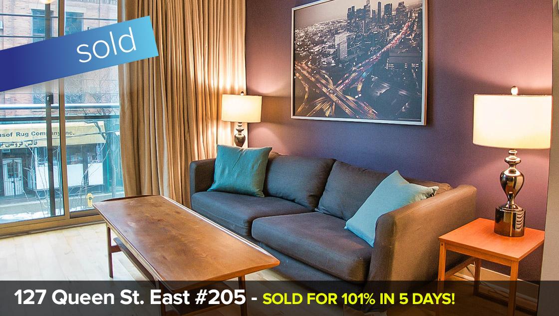 127 Queen St East - Yonge / Church Corridor C08 - 1 Bedroom + Locker  SOLD FOR 101% of List Price in just 5 days!