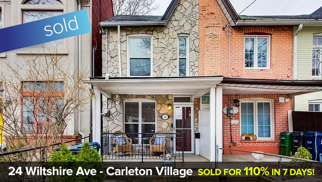 24 Wiltshire Ave - Davenport Road / Symington Ave - W03 - 2 Bedroom + Lane Parking  SOLD FOR 110% OVER LIST PRICE IN JUST 7 DAYS!