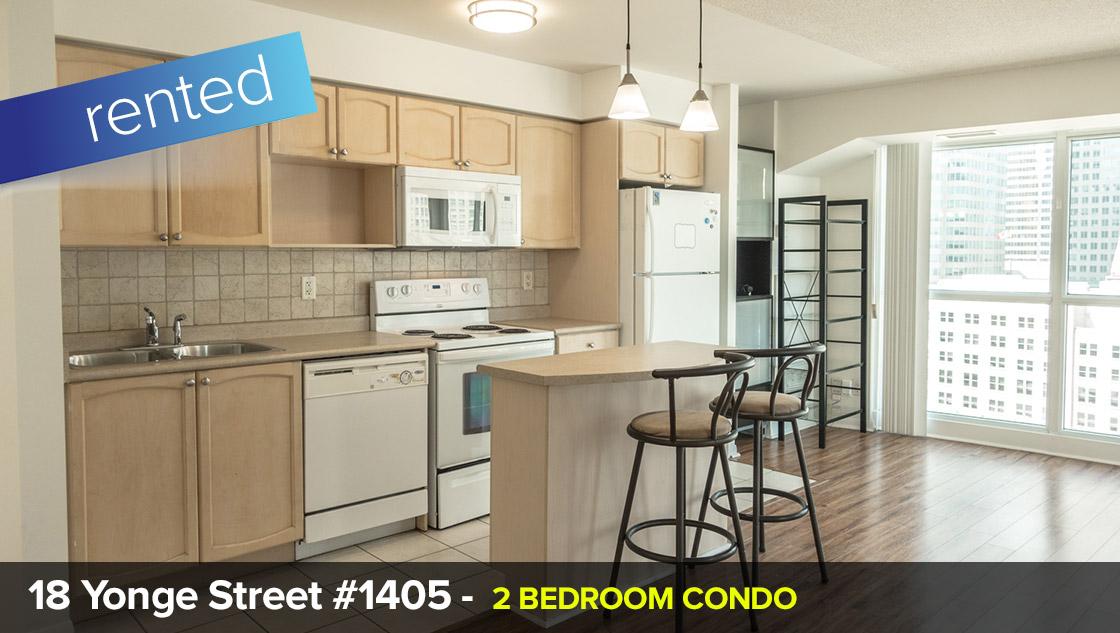 18 Yonge Street #1405 - Yonge / Lakeshore - 2 Bedroom  LEASE: 100% OF LIST PRICE IN 6 DAYS!