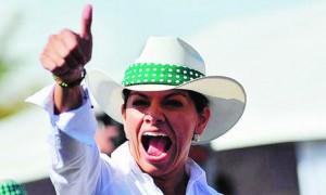 Current Costa Rican President Laura Chinchilla