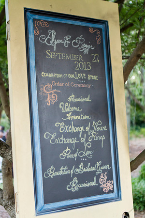 Paper program? No not this time. The bride and groom had their program costumed made on an old vintage door. A lovely touch to add to their new home together... #daretobedifferent