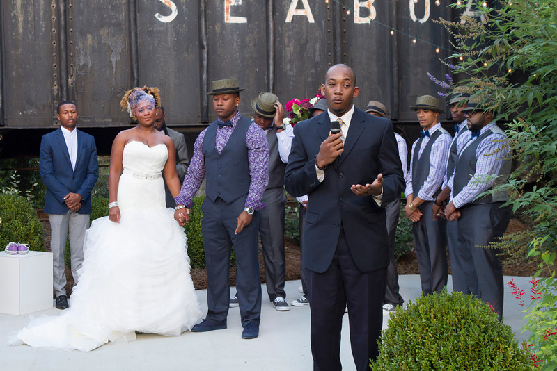 Greg Murray, friend of the bride and groom recited a heart touching poem especially written for the bride and groom.