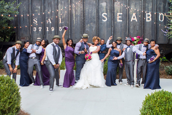 Interesting fact-every single bridesmaid and groomsman were from out of town. Mainly from Jersey and New York. As you can see, they were a fun group!