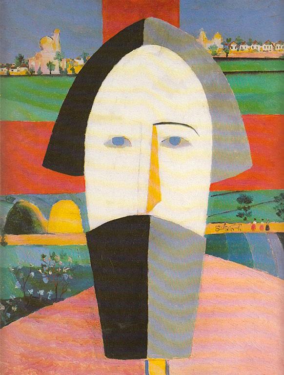 Kazimir Malevich, Head of a Peasant (ca. 1928-30)