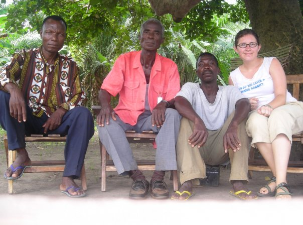 Anne with members of her local community.
