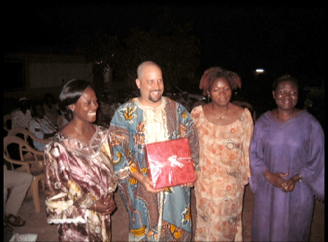 Steven with his Togolese colleagues