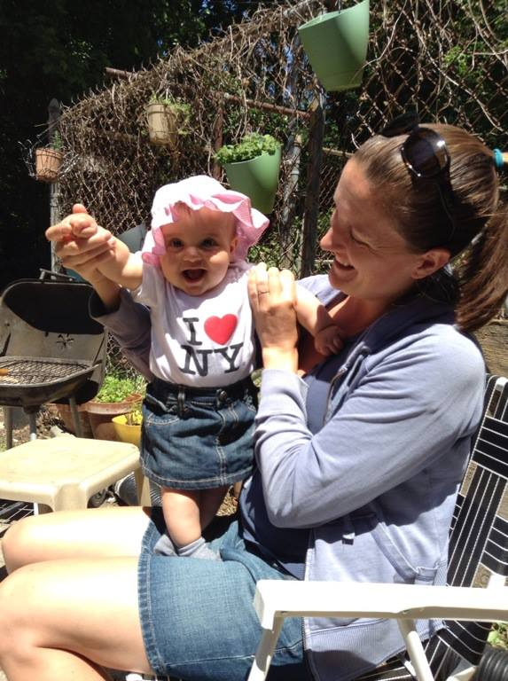 Kate with her daughter