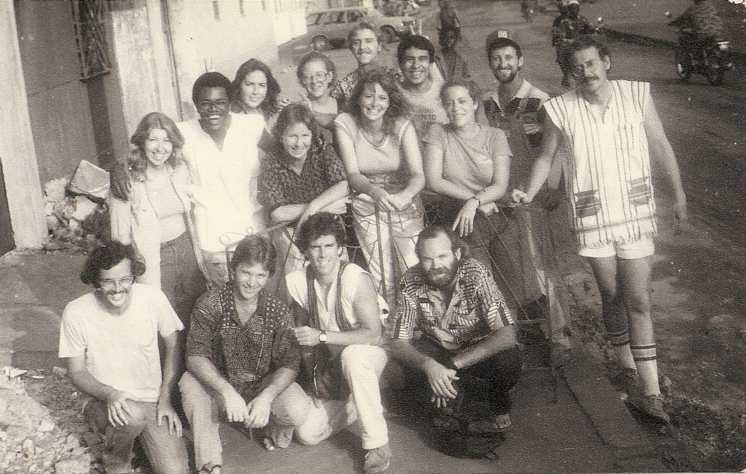 George with his Pre-Service Training Group in Benin, 1981. (Front row, far right)