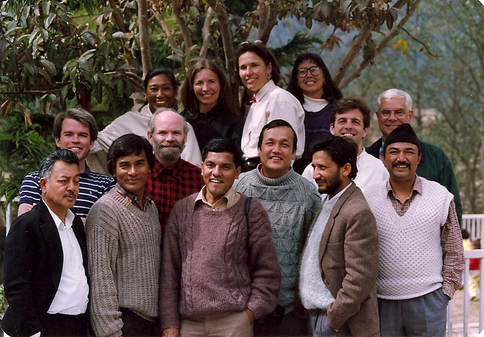 With the Peace Corps staff in Nepal, 1993.
