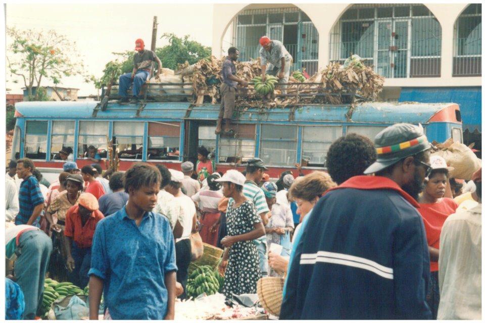Market scene in Jamaica