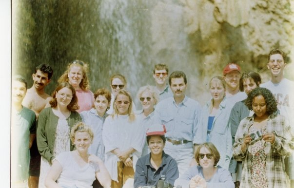 Brian (back row, second from right) with his Peace Corps Jordan cohorts