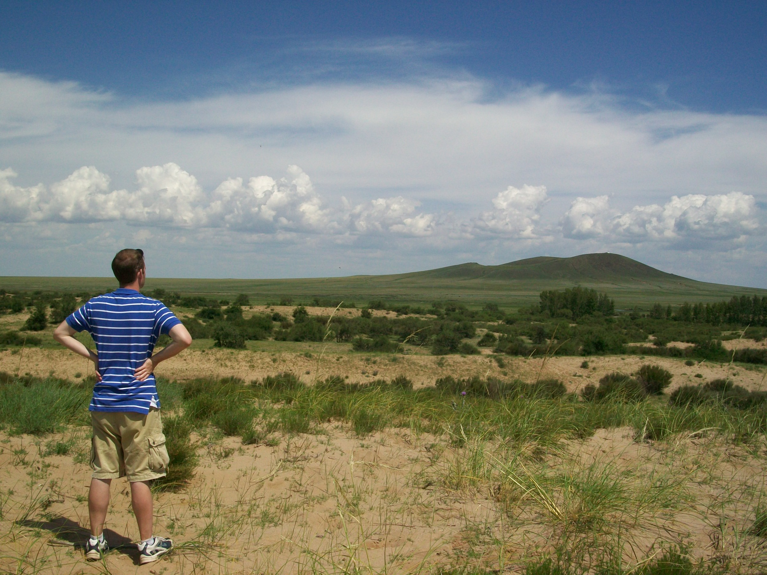 Travis enjoying the view in Mongolia.