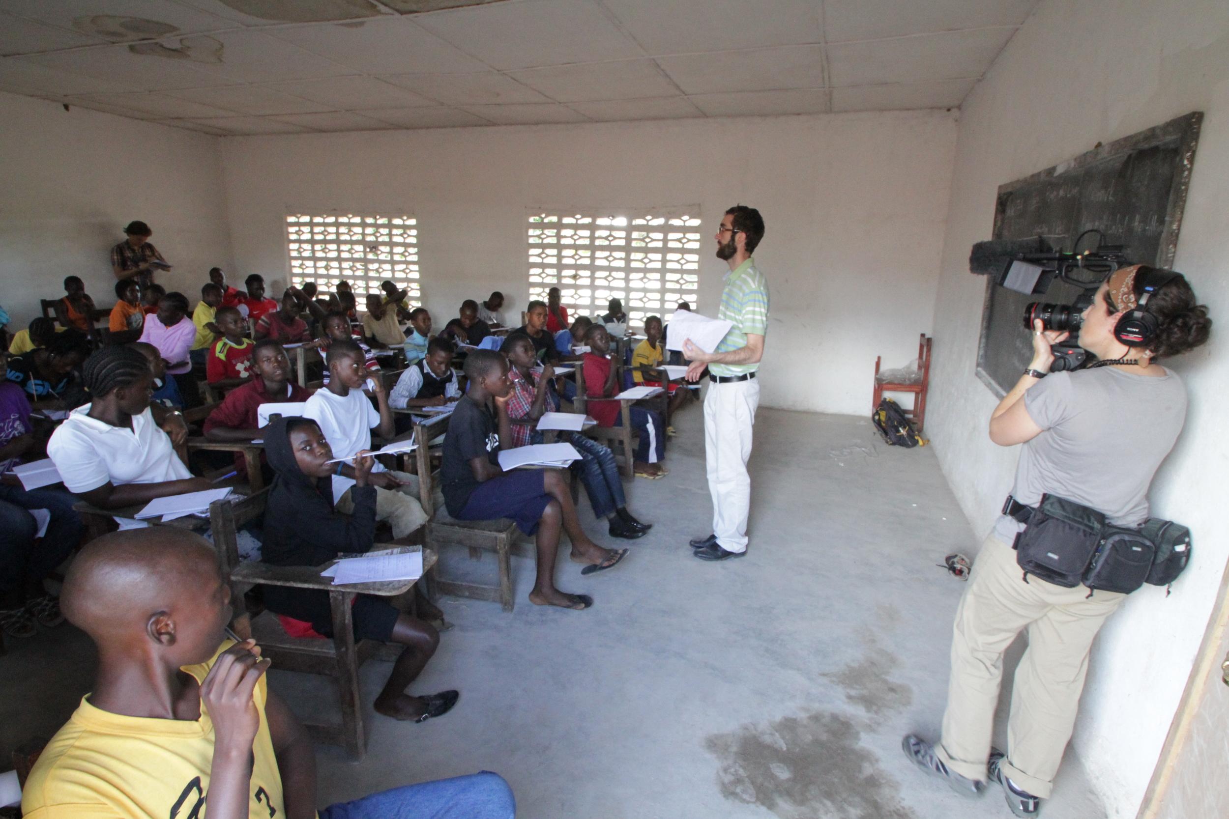Filming in Liberia