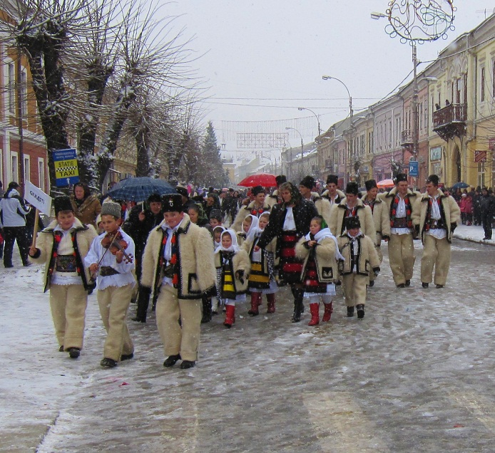 Village parade in Romania