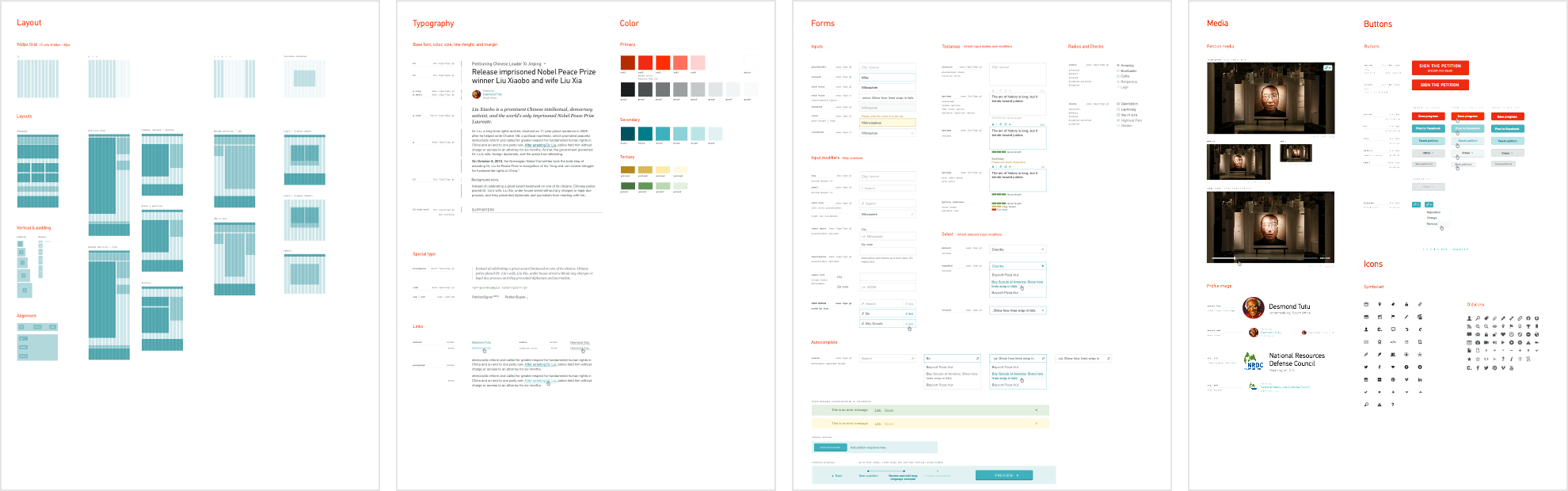 Change.org - live style guide