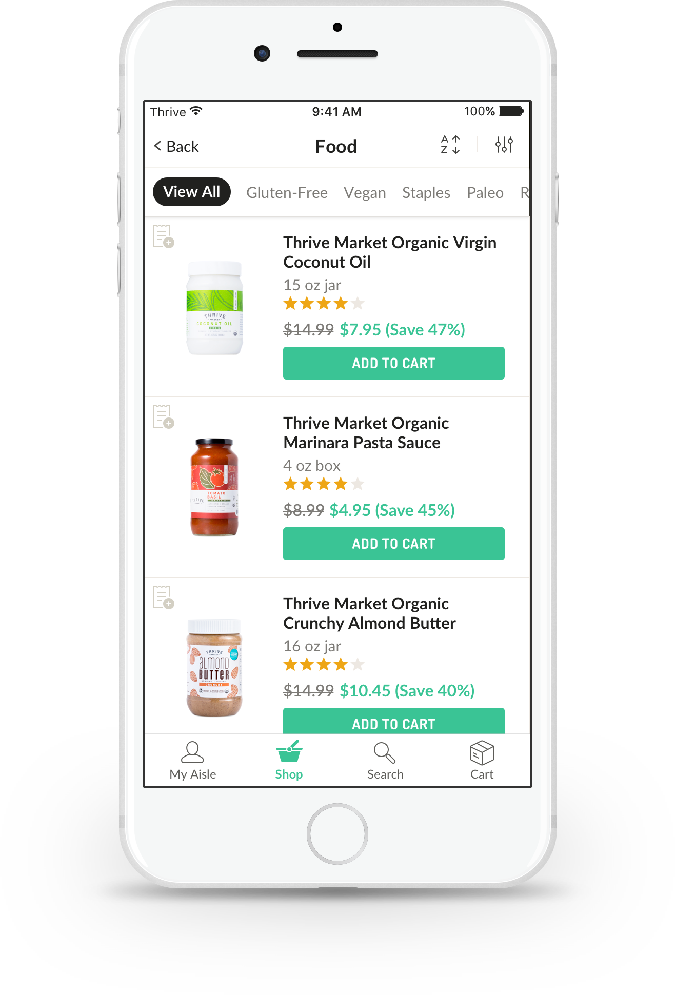 Product List Page (PLP)