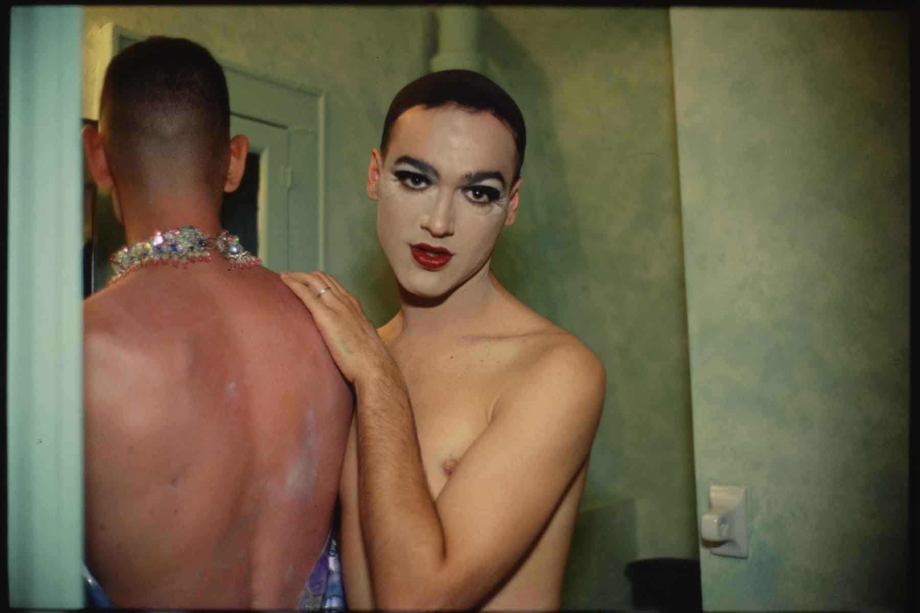 Nan Goldin  |   Jimmy Paulette and Taboo! in the bathroom  , NYC, 1991