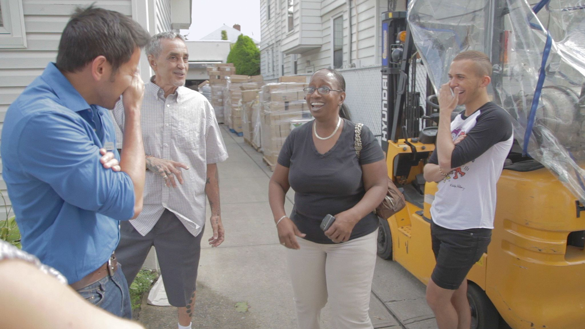 On location with Chris,Swami and Shirleyat the wondrous  River Fund NY  .