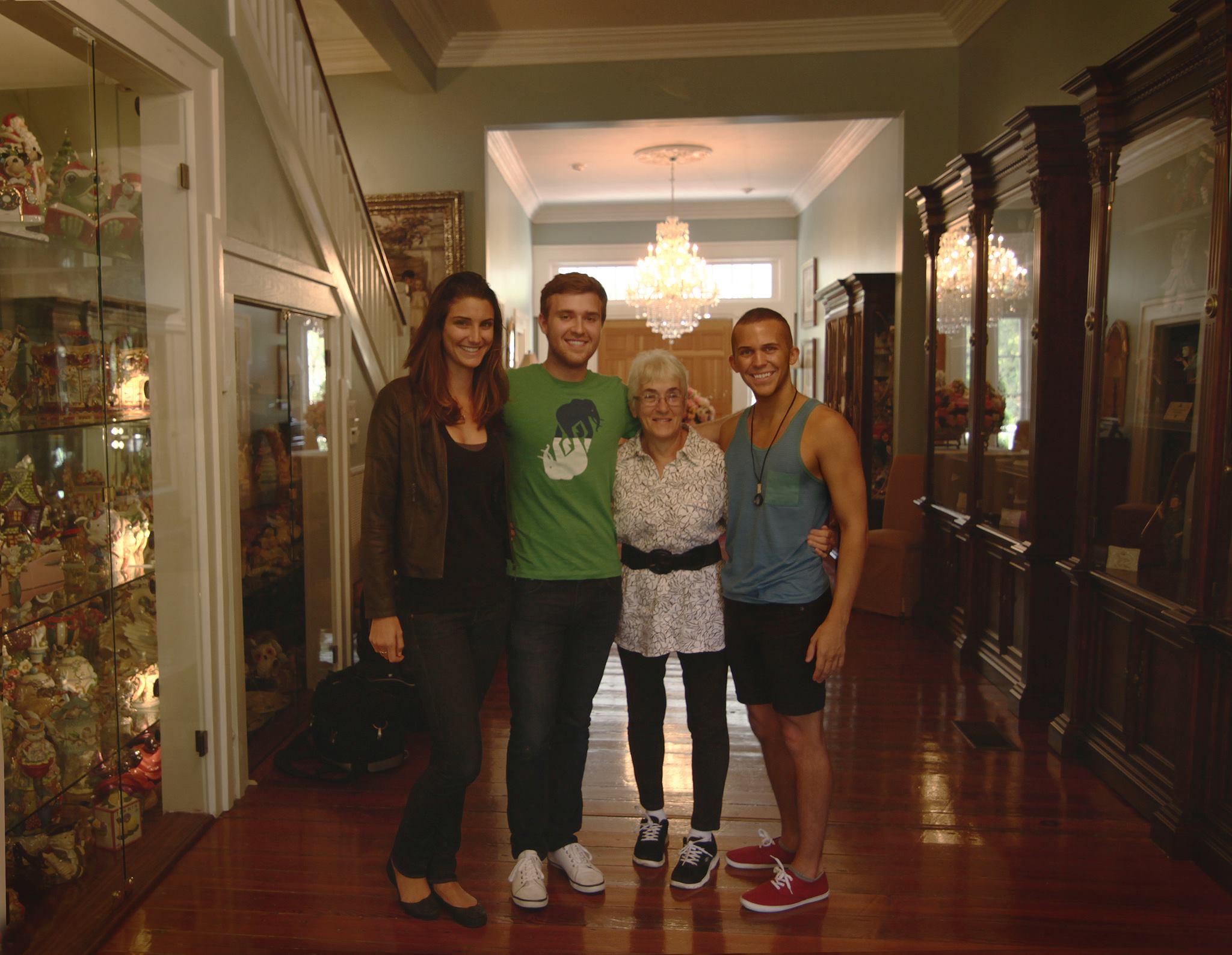 Phoebe (Vitamin Angels), Aaron (DP) and Theresea.