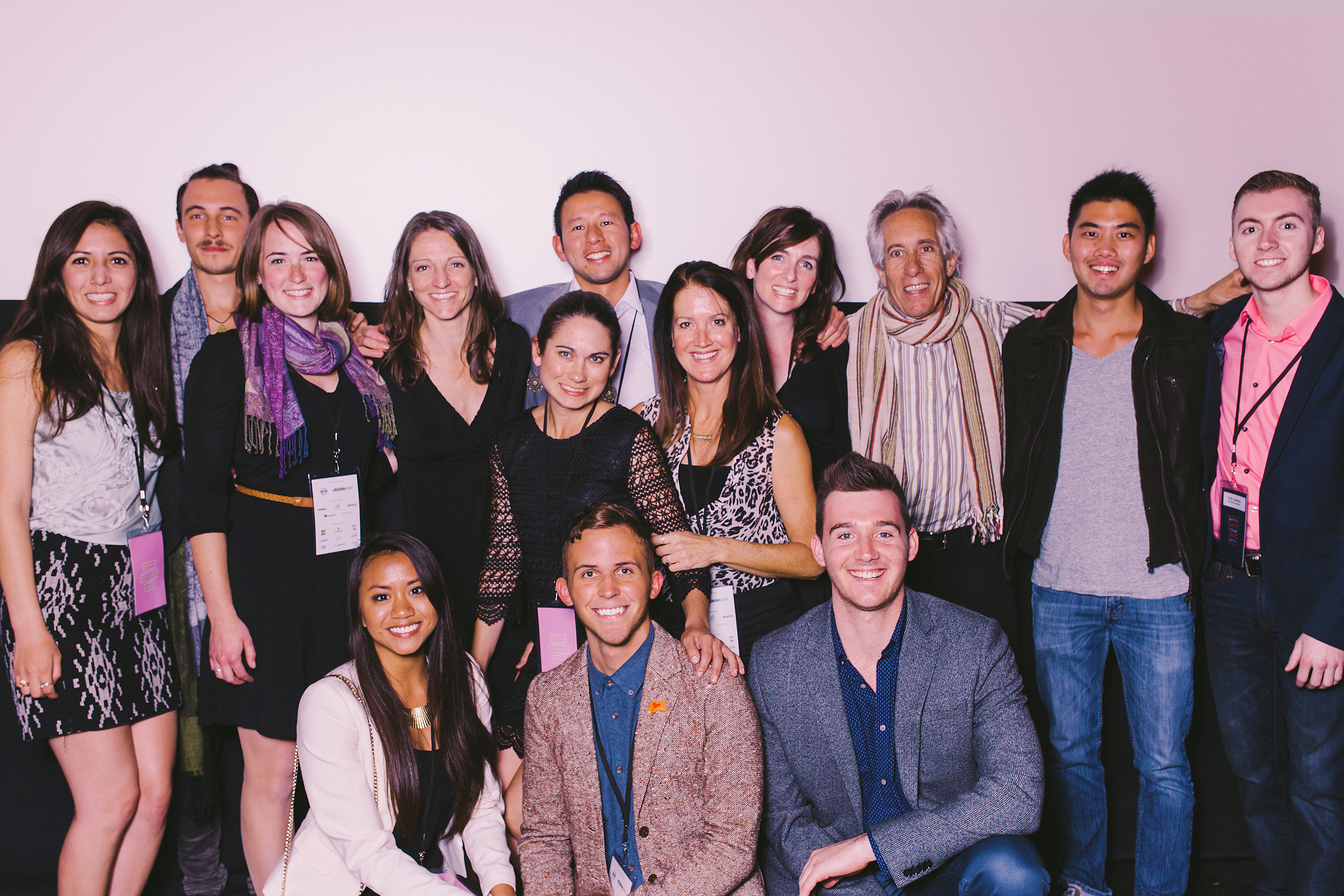 Just a handful of the many ladies and gents who brought filmic life to Vitamin Angels. (Photo ©  Mark Malijan)
