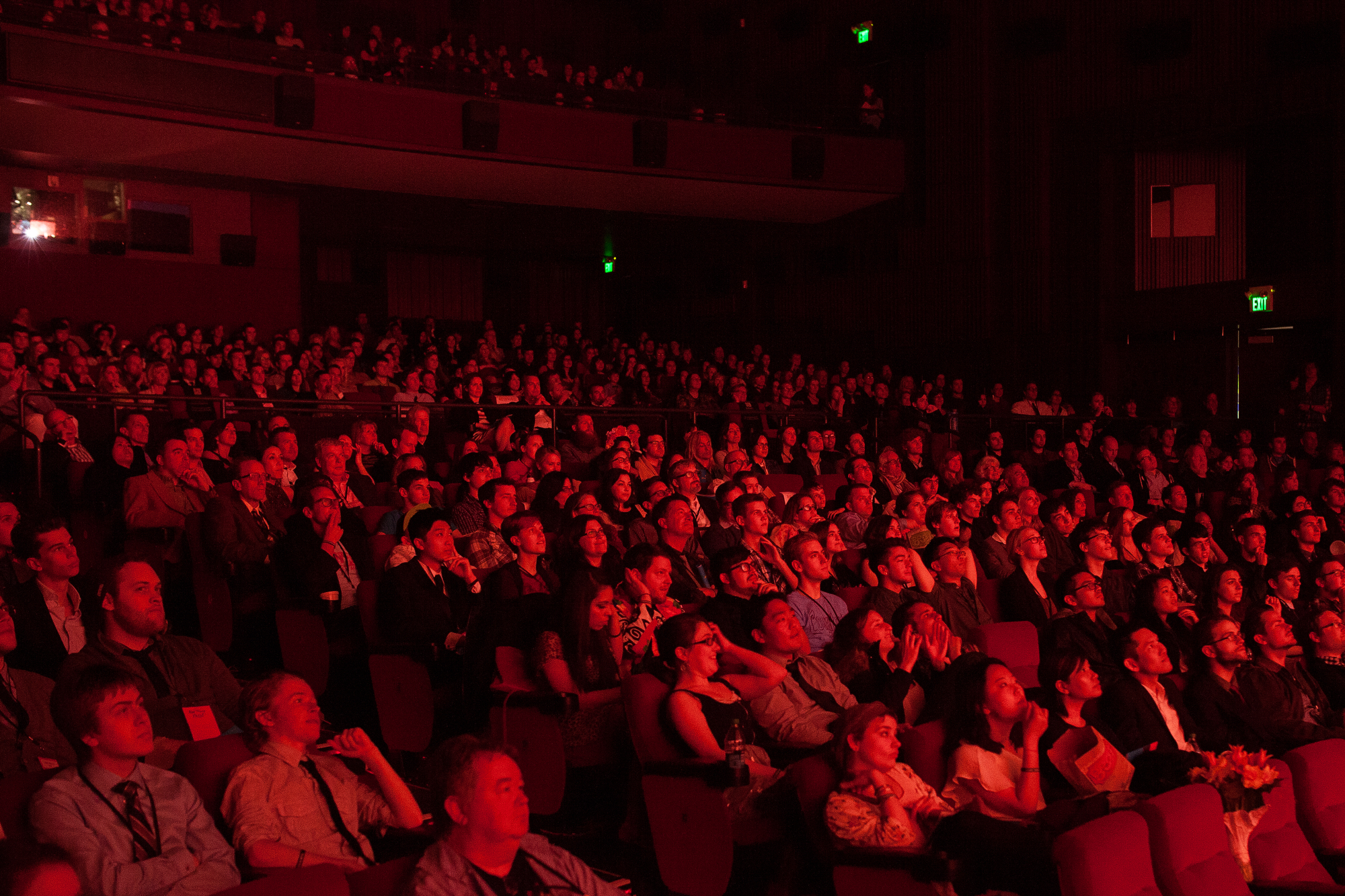 Sold out NFFTY 2014 Opening Night Screening at Seattle's Cinerama Theater (Photo ©  Mark Malijan )