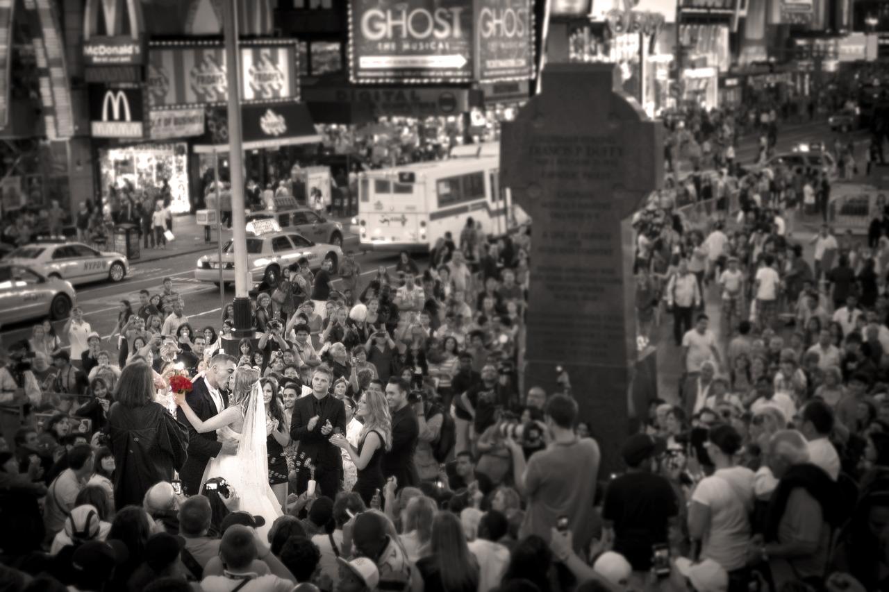 Times Square Wedding Crash - New York, NY