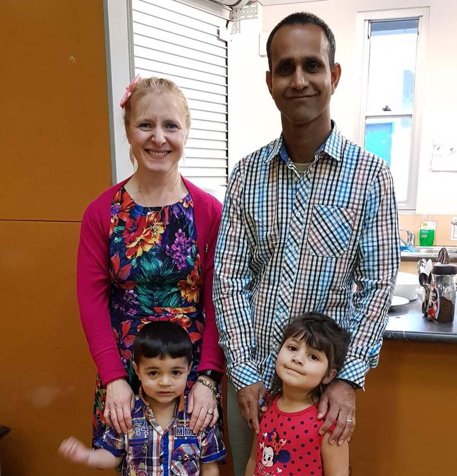 - Pastor Montaz and his family
