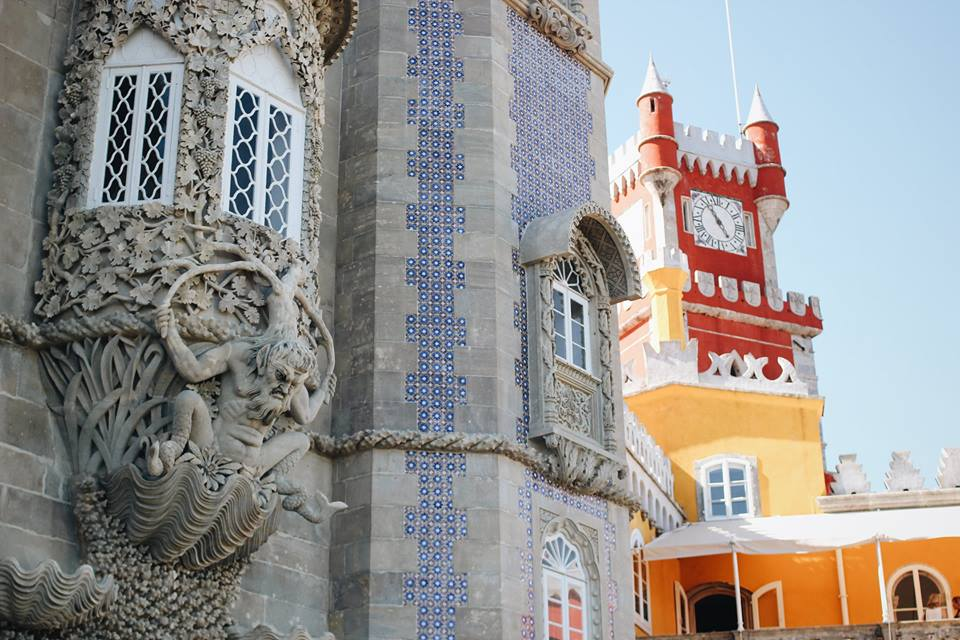 Extraordinary buildings with a lot of surprises at Pena Palace in Sintra.