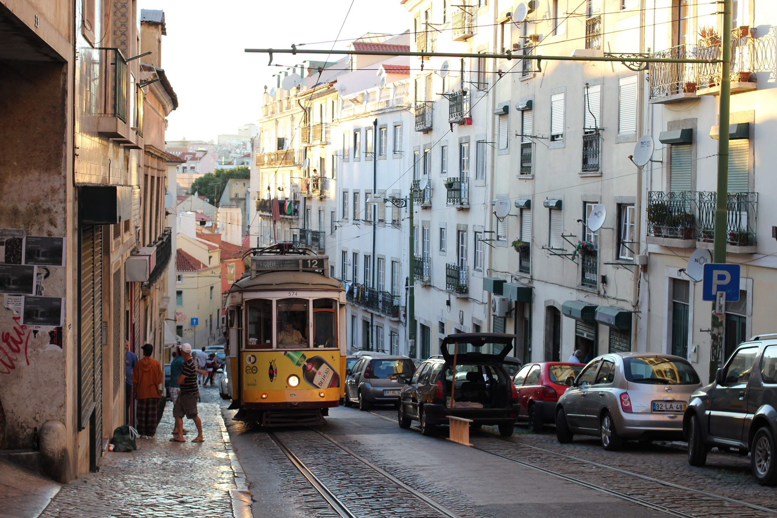 Tired of the hills in Lisbon? Jump on the tram and enjoy the rest.