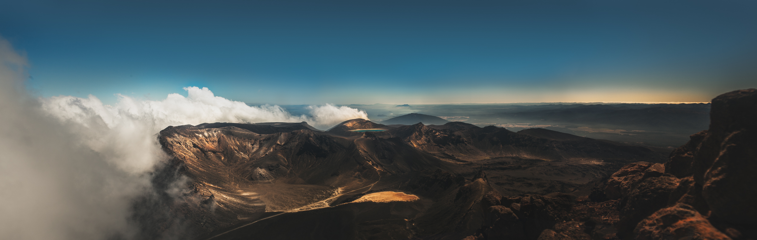 View from the top of Mt Ngauruhoe
