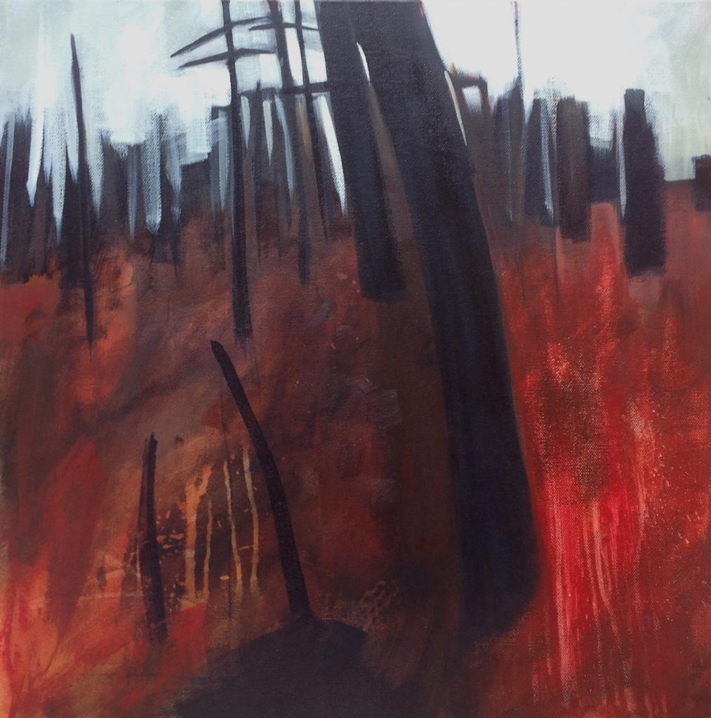 """Last man Standing""   Acrylic 50 x 50 cm on canvas"