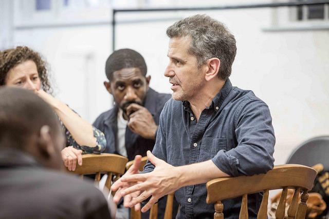 Director David Cromer, in rehearsal.