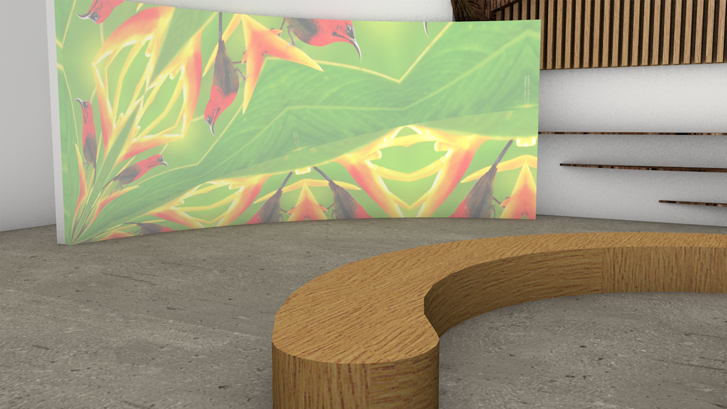 Benches around the tree allows customers to sit and catch the glimpse of 'Live in the Pause' moment within the store.