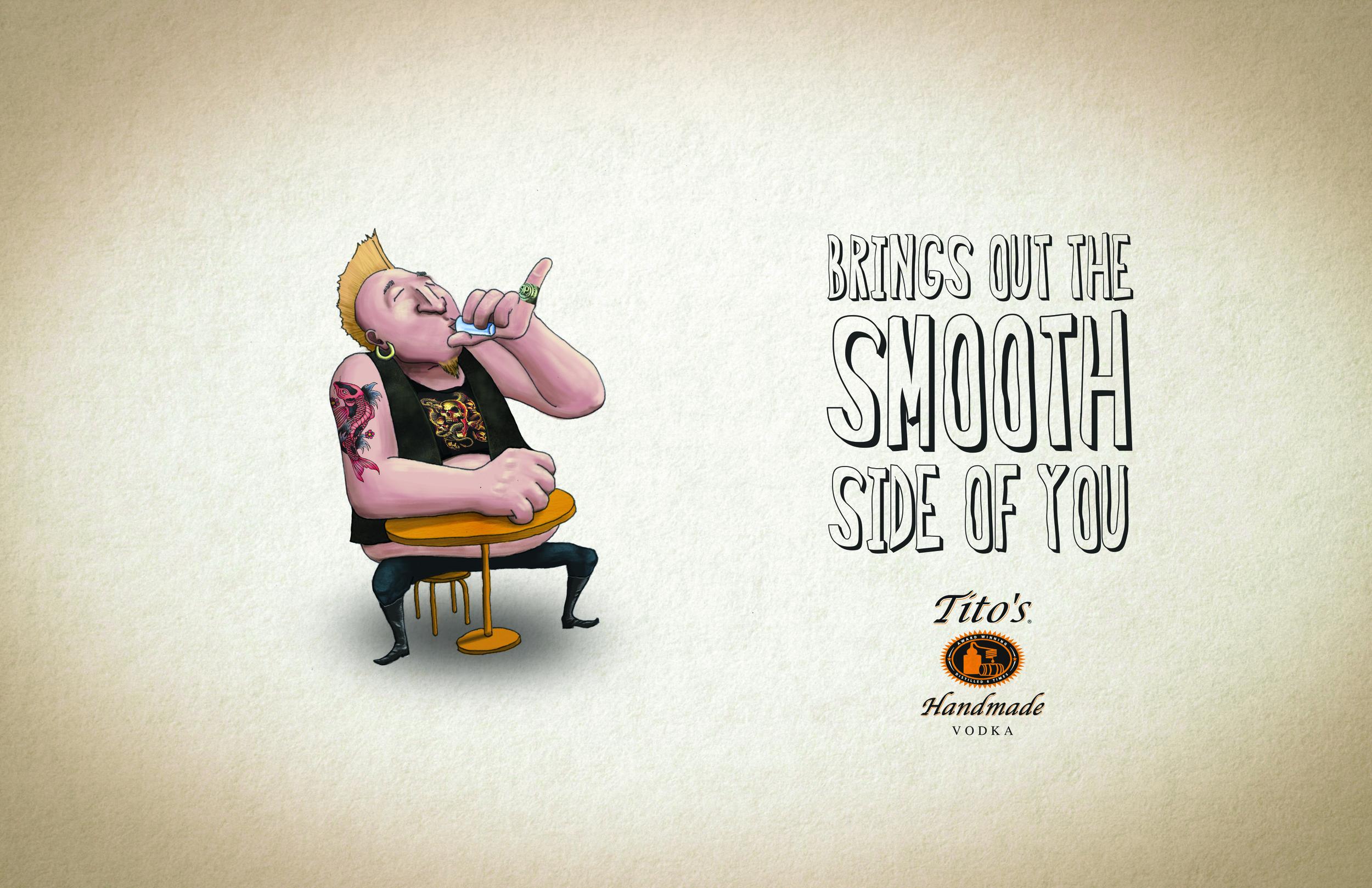 Tito's handmade vodka print  / Digital illustration /