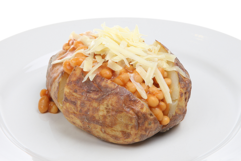 Baked potato with beans and cheese.jpg