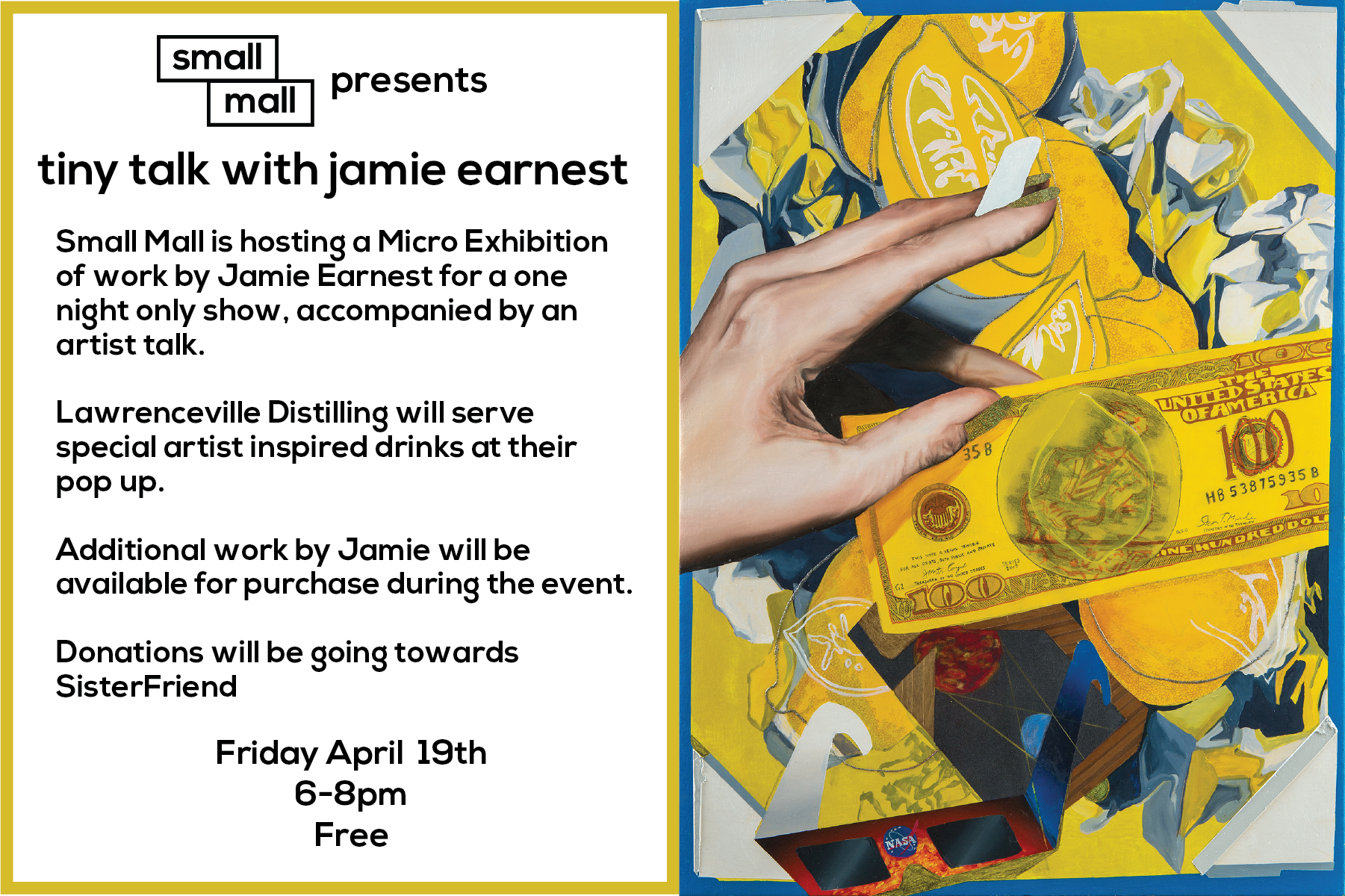 Tiny Talk is back with artist Jamie Earnest