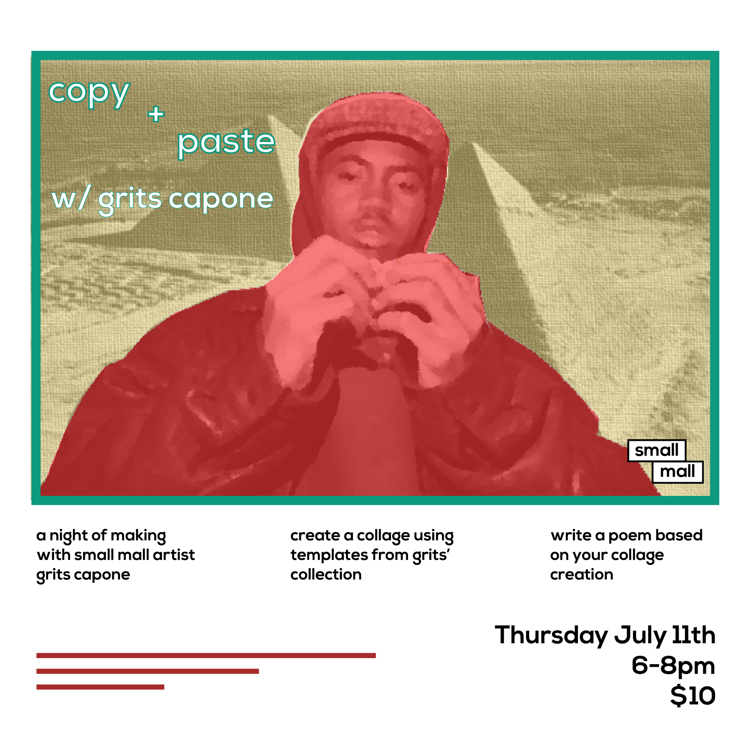 Combine collage and poetry with Grits Capone