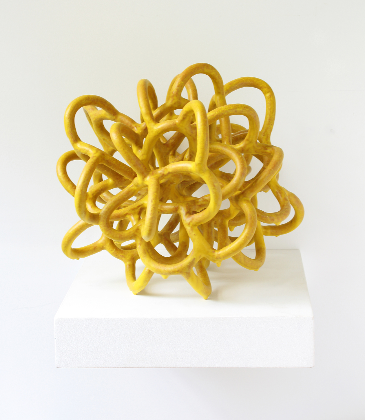 Yellow Knot with Drips