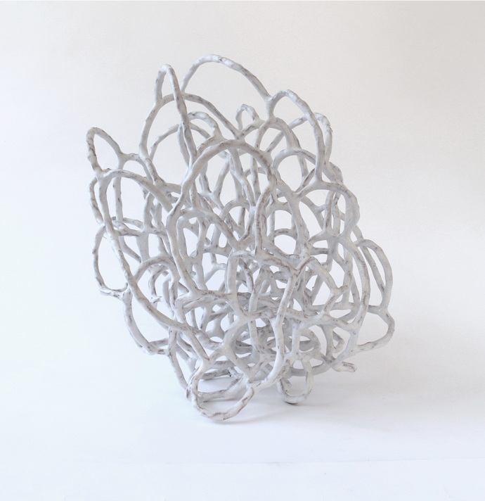 The space between then and now (Large White Tangle)